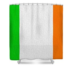Ireland Flag Shower Curtain by Dan Sproul