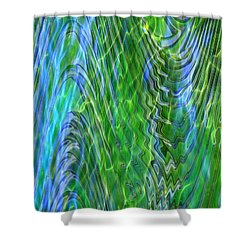 Iridescence Shower Curtain by Carol Groenen