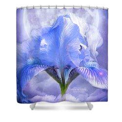 Iris - Goddess In The Moonlite Shower Curtain by Carol Cavalaris