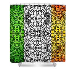 Irish Flag - Ireland Stone Rock'd Art By Sharon Cummings Shower Curtain by Sharon Cummings