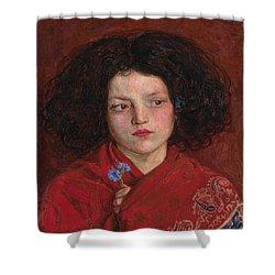 Irish Girl Shower Curtain by Philip Ralley
