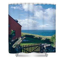Irish School House Shower Curtain by David Lange