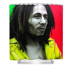 'iron Like A Lion In Zion' Shower Curtain by Christian Chapman Art