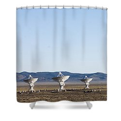 Is There Something Out There Shower Curtain by Steven Ralser