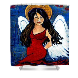 Isabella  A Spanish Earth Angel From Cultures Around The World Shower Curtain by The Art With A Heart By Charlotte Phillips