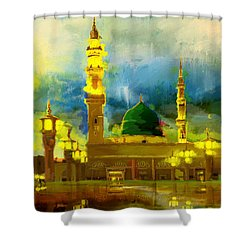 Islamic Painting 002 Shower Curtain by Corporate Art Task Force