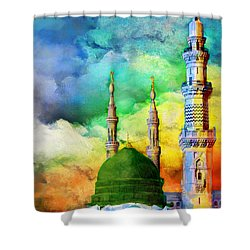 Islamic Painting 009 Shower Curtain by Catf