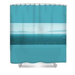 Island Shower Curtain by Ben and Raisa Gertsberg
