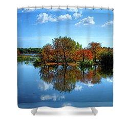 Islands In The Sun Shower Curtain by Debra and Dave Vanderlaan