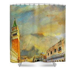 Italy 03 Shower Curtain by Catf