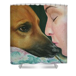 It's Alright Shower Curtain by Marna Edwards Flavell
