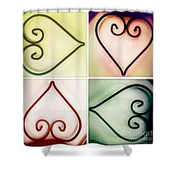 It's Love No Matter Which Way You Look At It Shower Curtain by Linda Lees