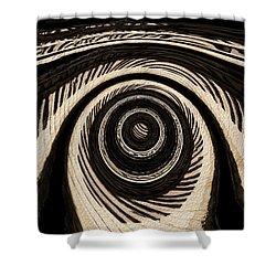 Ivory Shower Curtain by Jack Zulli
