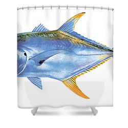 Jack Crevalle Shower Curtain by Carey Chen