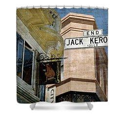 Jack Kerouac Alley And Vesuvio Pub Shower Curtain by RicardMN Photography