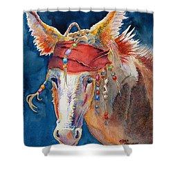 Jack Burro -  Donkey Shower Curtain by Deb  Harclerode