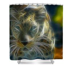 Jaguar208-fractal Shower Curtain by Gary Gingrich Galleries
