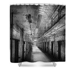 Jail - Eastern State Penitentiary - The Forgotten Ones  Shower Curtain by Mike Savad