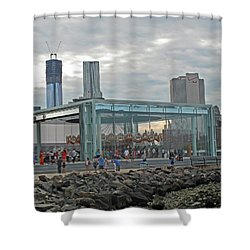 Jane's Carousel Shower Curtain by Barbara McDevitt