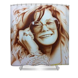 'janis' Shower Curtain by Christian Chapman Art