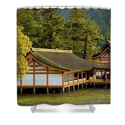 Japan Itsukushima Shower Curtain by Sebastian Musial