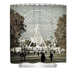 Jardin Des Tuileries Park Paris France Europe  Shower Curtain by Jon Boyes