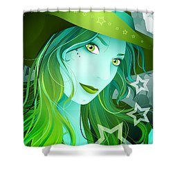 Jasmin Shower Curtain by Sandra Hoefer
