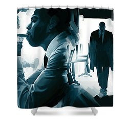 Jay-z Artwork 3 Shower Curtain by Sheraz A