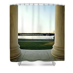 Jefferson Memorial Washington Dc Shower Curtain by Panoramic Images