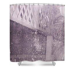 Jefferson Texas Ghost Eyes Shower Curtain by Donna Wilson