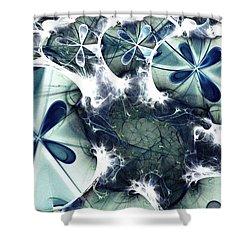Jellyfish Shower Curtain by Anastasiya Malakhova