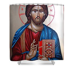 Jesus Christ Our Savior Shower Curtain by Gianfranco Weiss