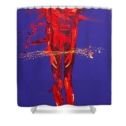 Jesus Is Condemned Station 1  Shower Curtain by Penny Warden