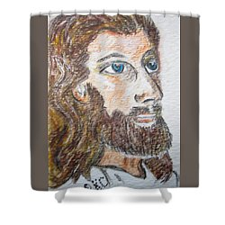 Jesus Our Saviour Shower Curtain by Kathy Marrs Chandler