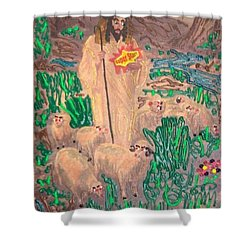 Jesus The Celebrity Shower Curtain by Lisa Piper Menkin Stegeman