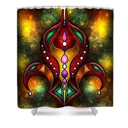 Jeweled Fleur De Lis Shower Curtain by Mandie Manzano