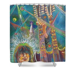 Jimmy Page Shower Curtain by To-Tam Gerwe