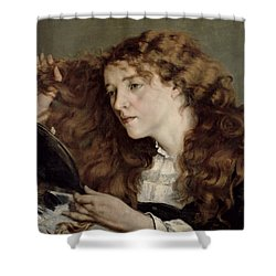 Jo The Beautiful Irish Girl Shower Curtain by Gustave Courbet