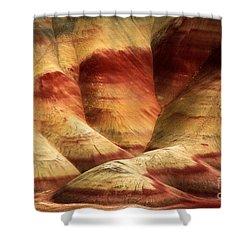 John Day Martian Landscape Shower Curtain by Inge Johnsson