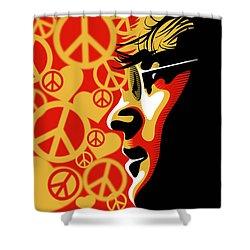 John Lennon Imagine Shower Curtain by Sassan Filsoof