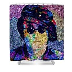 John Lennon Mosaic Shower Curtain by Jack Zulli