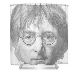 John Lennon Shower Curtain by Olivia Schiermeyer