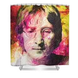 John Lennon Shower Curtain by Taylan Soyturk