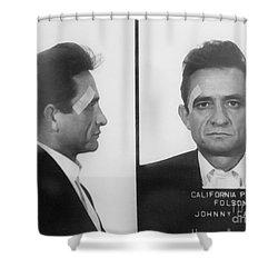 Johnny Cash Folsom Prison Shower Curtain by David Millenheft