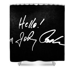 Johnny Cash Museum Shower Curtain by Dan Sproul