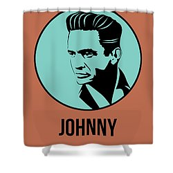 Johnny Poster 1 Shower Curtain by Naxart Studio