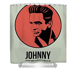 Johnny Poster 2 Shower Curtain by Naxart Studio
