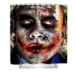 Joker Painting Shower Curtain by Daniel Janda