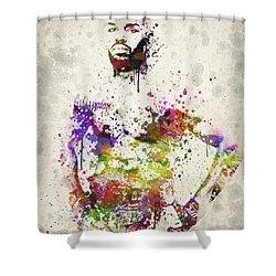 Jon Jones Shower Curtain by Aged Pixel