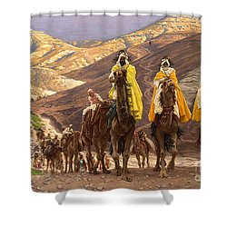Journey Of The Magi Shower Curtain by Tissot